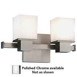 Milford Bath Bar (Chrome/2 Lights) - OPEN BOX RETURN