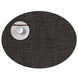 Mini Basketweave Oval Tablemat (Dark Walnut) - OPEN BOX