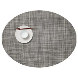 Mini Basketweave Oval Tablemat (Gravel) - OPEN BOX RETURN