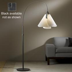Mobius Floor Lamp (Spun Frost/Black/Incandescent) - OPEN BOX