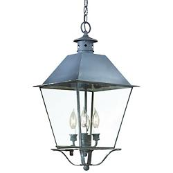 Montgomery Outdoor Pendant (Iron/Clear/Lg) - OPEN BOX RETURN