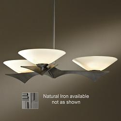 Moreau 3-Light Pendant (Opal/Iron/Standard) - OPEN BOX