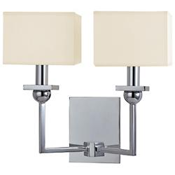Morris 2-Light Wall Sconce (Cream/Chrome) - OPEN BOX RETURN