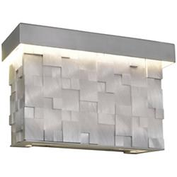 Mosaic LED Short Outdoor Wall Sconce