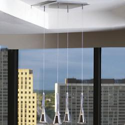 Note Glass Lichtstar 4-Light Pendant System