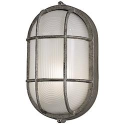 Oceanview Outdoor Wall Sconce (Silver Rust/Small) - OPEN BOX