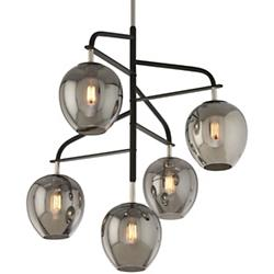 Odyssey 5-Light Pendant (Black/Nickel) - OPEN BOX RETURN