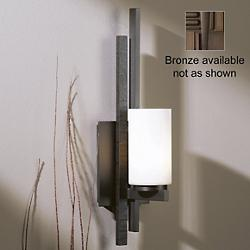 Ondrian Wall Sconce (Opal/Bronze/CFL/Right) - OPEN BOX