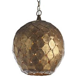 Osgood Iron Pendant (Antiqued Gold Leaf) - OPEN BOX RETURN