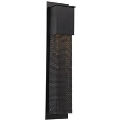 Outdoor Mesh Tall Square Wall Sconce