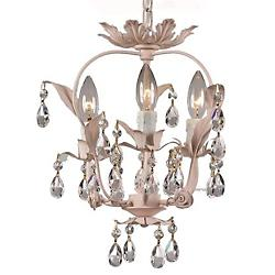 Paris Market 3-Light Mini Chandelier (Blush) - OPEN BOX