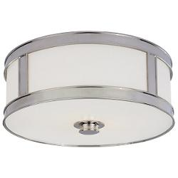 Patterson Flushmount (Polished Nickel/Large) - OPEN BOX
