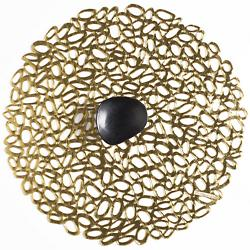 Pebble Round Gold Tablemat Set of 4