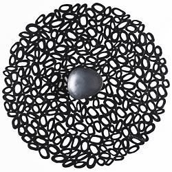 Pebble Round Tablemat (Black) - OPEN BOX RETURN