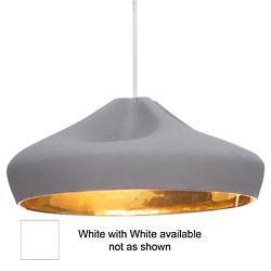 Pleat Box 14 Pendant (White) - OPEN BOX RETURN