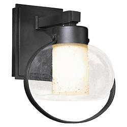 Port Outdoor Wall Sconce with Seeded Glass