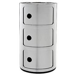 Precious Componibili Storage Module (Chrome/3 Hi) - OPEN BOX