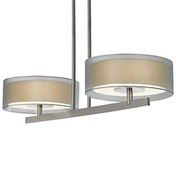 Puri 2-Light Pendant (Satin Nickel/Silver) - OPEN BOX RETURN