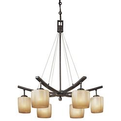 Raiden 6-Light Chandelier (Iron Oxide) - OPEN BOX RETURN