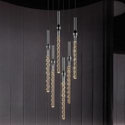 Rain LED Round Multi-Light Pendant