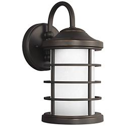 Sauganash Outdoor Wall Sconce with Etched Seeded Glass