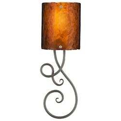 Script Clef Glass Sconce