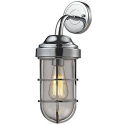 Seaport Cylindrical Wall Sconce (Chrome) - OPEN BOX RETURN