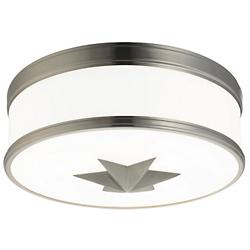 Seneca Flushmount (Satin Nickel/Large) - OPEN BOX RETURN