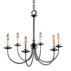 Simple Lines Six Arms Chandelier