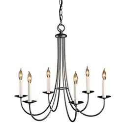 Simple Sweep Six Arms Chandelier