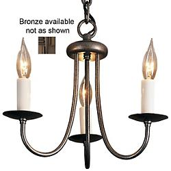 Simple Sweep Three Arms Chandelier (Bronze) - OPEN BOX