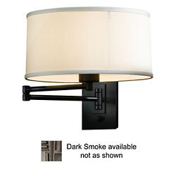 Simple Swingarm Wall Sconce (Smoke/Natural Anna) - OPEN BOX