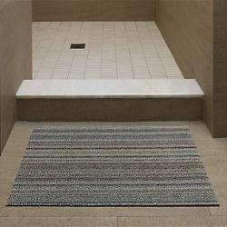 Skinny Stripe Shag Door Mat (Soft Multi) - OPEN BOX RETURN