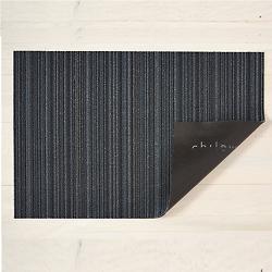 Skinny Stripe Shag Indoor/Outdoor Mat (Blue/Big) - OPEN BOX