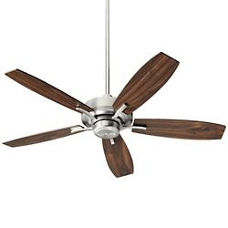 Soho Ceiling Fan (Satin Nickel/Walnut) - OPEN BOX RETURN