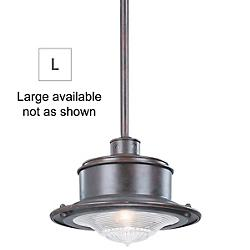 South Street Outdoor Pendant Lantern (Rust/Large) - OPEN BOX