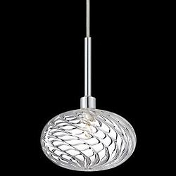 Spadina Mini Pendant/Semi Flushmount (Chrome) - OPEN BOX