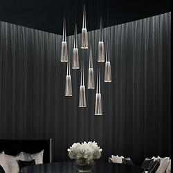 Spire LED Round Multi-Light Pendant