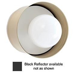Spun Wall/Ceiling Sconce (Black Reflector) - OPEN BOX RETURN
