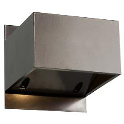 Square LED 3 Inch Outdoor Wall Sconce (Bronze) - OPEN BOX