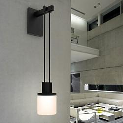 Suspenders Mini Single LED Wall Sconce (Drum) - OPEN BOX