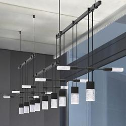 "Suspenders™ 36"" 3-Bar Offset LED Linear Suspension"