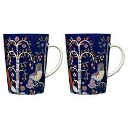 Taika Blue Mug Set of 2 in Gift Box