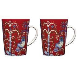 Taika Mug Red - Set of 2