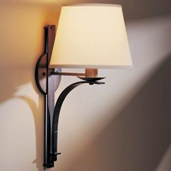 Tapered Pierced Wall Sconce With Shade