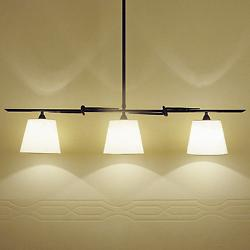 Tous 3 Luces Linear Suspension (Cotton/Brown) - OPEN BOX