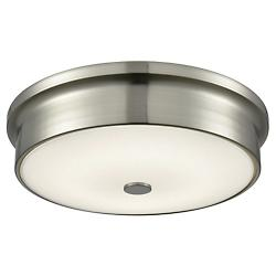Towne Satin Nickel LED Flushmount