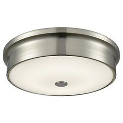 Towne Satin Nickel LED Flushmount