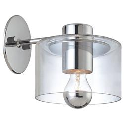 Transparence Wall Sconce (Clear/Chrome) - OPEN BOX RETURN