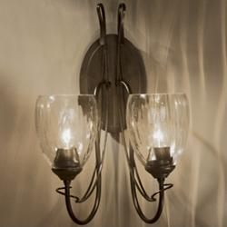 Trellis 2-Light Wall Sconce With Water Glass